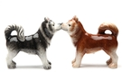 Buy Magnetic Salt and Pepper Shaker Set (Huskies) - 4 inch