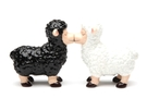 Magnetic Salt and Pepper Shaker Set (Black And White Sheep) - 4 inch [ 2 units]