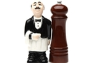 Magnetic Salt and Pepper Shaker Set (Waiter And Pepper Mill) - 4 inch [ 2 units]