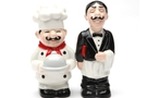 Magnetic Salt and Pepper Shaker Set (Chef And Waiter) - 4 inch