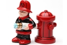 Buy Magnetic Salt and Pepper Shaker Set (Fireman) - 4 inch