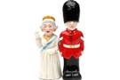 Buy Magnetic Salt and Pepper Shaker Set (Queen And Guard) - 4 inch