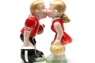 Buy Magnetic Salt and Pepper Shaker Set (Football player and cheerleader) - 3 1/2 inch