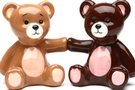 Magnetic Salt and Pepper Shaker Set (Teddy Bears) - 4 inch