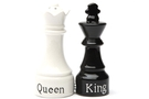 Buy Magnetic Salt and Pepper Shaker Set (Queen And King Chess) - 4 inch