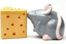 Magnetic Salt and Pepper Shaker Set (Mouse And Cheese) - 4 inch [ 6 units]
