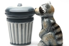 Buy Magnetic Salt and Pepper Shaker Set (Racoon And Trash) - 4 inch