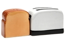 Magnetic Salt and Pepper Shaker Set (Toaster And Toast) - 4 inch