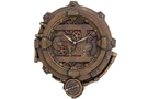 Buy Pacific Steampunk Clock With Thermometer