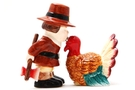 Thanksgiving Turkey Magnetic Salt and Pepper Shaker Set - 3 1/2 inch [6 units]