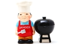 Buy Magnetic Salt and Pepper Shaker Set (Man Cooking) - 3 1/2 inch
