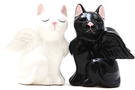 Buy Magnetic Salt and Pepper Shaker Set (Angelic Cats) - 4 inch