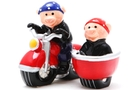 Magnetic Salt and Pepper Shaker Set (Wild Hogs) - 3 1/2 inch [ 6 units]