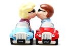 Magnetic Salt and Pepper Shaker Set (Cars Magnetic) - 4 inch [ 2 units]