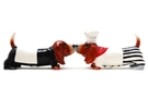 Magnetic Salt and Pepper Shaker Set (Basset Hound Chefs) - 2 1/2 inch [ 6 units]