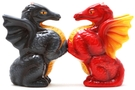 Magnetic Salt and Pepper Shaker Set (Dragons) - 4 inch