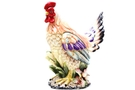Ceramic Chicken Rooster Jar (3-D Hand Painted) - 12 inch