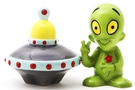 Buy Magnetic Salt and Pepper Shaker Set (Alien and Saucer) - 3 3/4 inch
