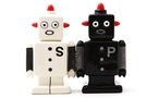 Buy Magnetic Salt and Pepper Shaker Set (Robots) - 4 inch
