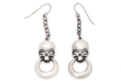 Buy Skull with Ring Earrings