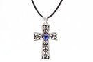 Buy Cross w/Blue Gemstone