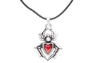 Buy Red Heart Spider Necklace