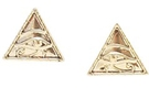 Buy Triangle Egyptian Eyes Earring