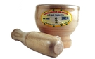 Buy Fortuna Wooden Mortar and Pestle Set (Coi Gia Than Tai) - 12 cm