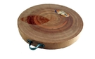 Wooden Chop Board with Handle (Thot Thank Tai) - 30 cm Diameter.