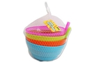Buy NA Plastic Bowl With Atttached Straw (4 pcs Assorted Color) - 5.75 inch