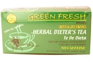 Buy Green Fresh Green Fresh Herbal Dieters Tea (Extra Strength /18ct) - 1.90oz
