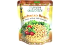 Buy Jyoti Garbanzo Beans in water with a little sea salt.