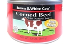Buy Brown and White Cow Super Chunky Corned Beef With Natural Juices - 12oz