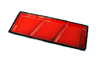 Condiment Plate (Red & Black /3 Sections) - (W 19.5 cm x L 7.9 cm)