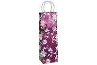 Oriental Rose Single Bottle Gift Bag - Purple