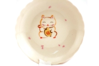Lucky Cat Plate (Small) - 10.5cm