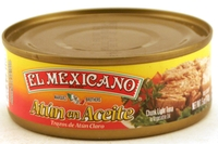 Atun en Aceite Trozo de Atun Claro (Chunk Light Tuna in Vegetable Oil) - 5oz