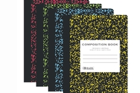 Assorted Color Marble Composition Book - W/R 100 Ct.