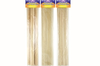 Assorted Size Natural Wood Dowel Sticks