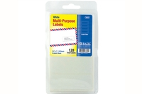 2 3/4 inch X 1 inch White Multipurpose Label (128/Pack)