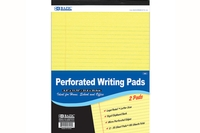 Canary Perforated Writing Pad (2/Pack) - 50 Ct. 8.5 inch X 11.75 inch
