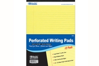 Canary Perforated Writing Pad 50-Ct. (8.5 inch X 11.75 inch) - (12/Pack)