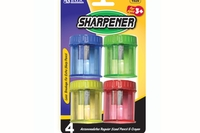 Sharpener w/ Round Receptacle (4/pack) - Single Hole