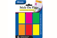 Neon Color Standard Flags  1 X 1.7 inch (25 ct) - 6/pack