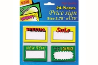 Assorted Mini Price Sign (24/Pack) - 2.75 inch X 1.75 inch