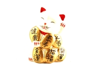 Maneki Neko (Lucky Fortune Cat Figurine) - 10cm Height