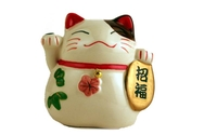 Maneki Neko (Good Luck Cat Figurine) - 2 inch