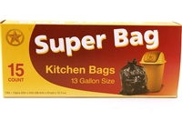 Kitchen Trash Bags (13 Gallon Size) - 15/pack