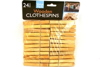 Wooden Clothespins - 24pieces