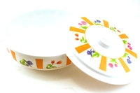 Melamine Bowl with Lid (Colorful Flower Motives)